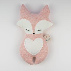 Doudou renard sleeping rose vu de face.