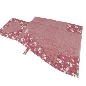 tapis bébé nomade rose déplié